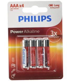 PILAS PHILIPS POWERLIFE ALKALINE AAA LR03 BLISTER*4