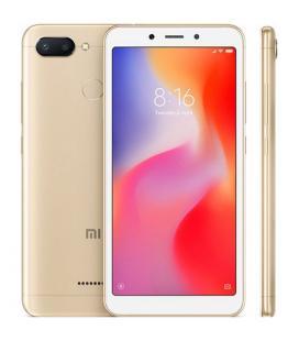 "Telefono movil smartphone xiaomi redmi 6 gold 5.45"" 18:9 / 32gb rom/ 3gb ram/ octa core/ 12+5mpx - 5mpx/ 4g/ sensor huella"