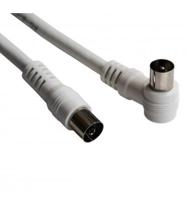Cable silver ht antena tv/ macho-hembra/ 3m/ blanco - Imagen 1