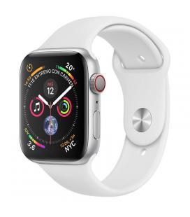 Apple watch series 4 gps cellular 40mm caja acero inoxidable plata con correa deportiva blanca - mt