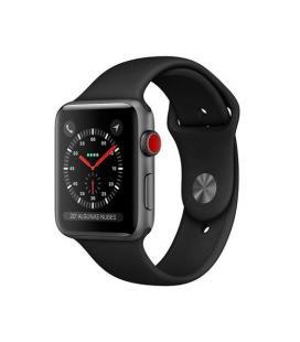 Applewatch series3 gpscellular 38mm caja aluminio gris espacial con correa deportiva negra - mtg