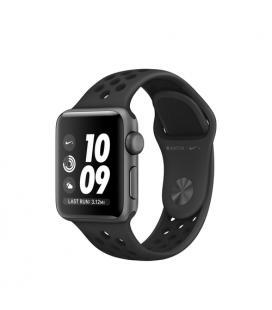 Applewatch nike series 3 gps 38mm caja aluminio gris espacial con correa deportiva antracita/negro