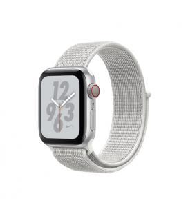 Applewatch nike series4 gpscellular 40mm caja aluminio plata con correa deportiva blanca nike lo