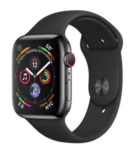 Applewatch series4 gpscellular 44mm caja acero inoxidable negro espacial con correa deportiva ne