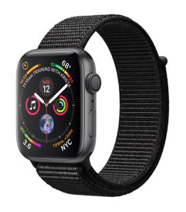 Applewatch series4 gps 44mm caja aluminio gris espacial con correa deportiva loop negra - mu6e2ty/