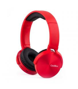 Coolbox Auricular+Mic BT COOLMETAL Rojo