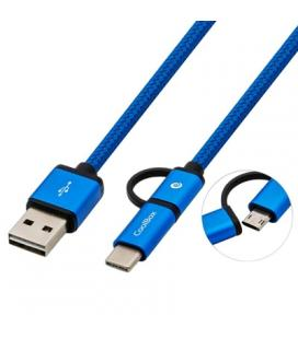 CABLE UBS COOLBOX USB 2.0 A/M - MICRO USB2.0 1M AZUL