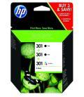 TINTA HP PACK AHORRO 301 NEGRO(2) Y TRI-COLOR(1) - Imagen 10