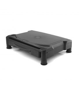 Elevador de monitor phoenix / soporte escritorio monitor / cajon organizador / 3 alturas / goma antideslizante / negro