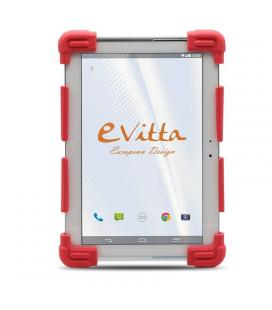 Protector rojo de silicona e-vitta para tablet 9.7-12'/24-30.4cm - botones snaps ajustables para diferentes ángulos de visión y