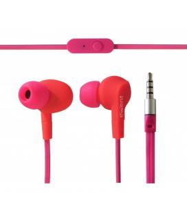 Auricular deportivo in-ear ewent ew3557 con microfono rosa - Imagen 1
