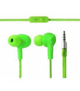 Auricular deportivo in-ear ewent ew3558 con microfono verde - Imagen 1