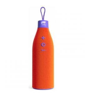Altavoz bluetooth fonestar orangebottle naranja y morado - 3w rms - bt4.2 - bat. 1200mah - acabado en tela