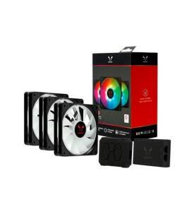 VENTILADOR 120X120 RIOTORO QUIET STORM RGB PACK 3 UD