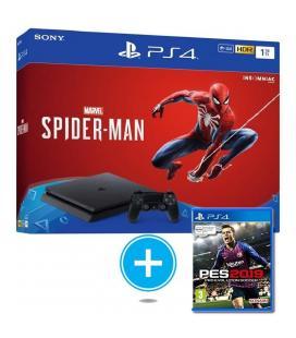 Consola sony ps4 slim 1tb + marvel spiderman + pro evolution soccer 2019 (pes 19)
