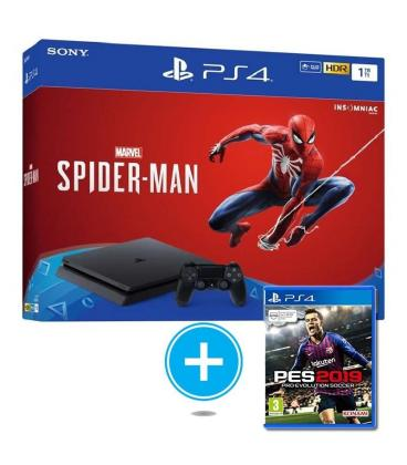 Consola sony ps4 slim 1tb + marvel spiderman + pro evolution soccer 2019 (pes 19) - Imagen 1