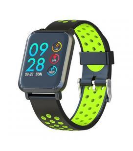 Reloj inteligente leotec multisport helse verde - pantalla táctil color 3cm - bt4.0 - tensiometro - pulsometro dinámico - bat