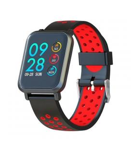 Reloj inteligente leotec multisport helse rojo - pantalla táctil color 3cm - bt4.0 - tensiometro - pulsometro dinámico - bat