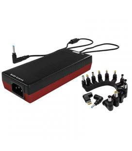 Cargador universal de portátil mars gaming mna1 - 140w - 12/20v - automático - 14 conectores - usb 5v/2.1a - color negro y rojo