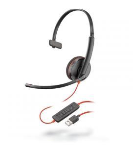 Auriculares plantronics blackwire c3210 a - monoaural - micrófono con cancelación de ruido - control remoto en cable - usb