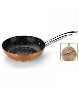 Sartén copper monix m740026 - ø26cm - espesor base 4mm - aluminio forjado con antiadherente quantanium - todo tipo de fuego +