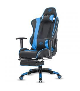 Silla spirit of gamer siege hornet blue - inclinación / altura / brazos regulables - reposapies incorporado - hasta 120kg