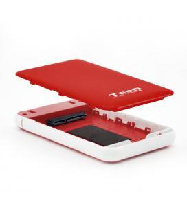 CAJA HDD TOOQ TQE-2528R 2.5'' SATA USB3.1 9,5MM ROJA