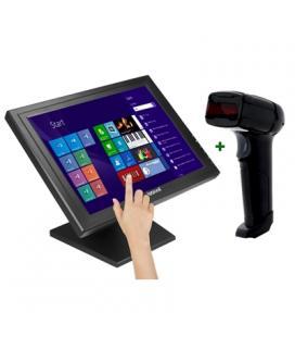 "KIT iggual Monitor Táctil 15"" + Lector 1D Lás USB"