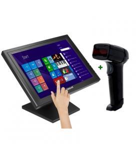 "KIT iggual Monitor Táctil 17"" + Lector 1D Lás. USB"