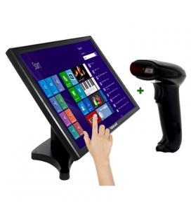 """KIT iggual Monitor Táctil 19"""" + Lector 1D Ima.USB"""