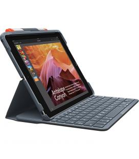 Funda logitech slim folio negro con teclado para ipad