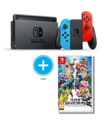 Consola Nintendo Switch Red Blue Juego Super Smash Bros Ultimate