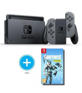 Consola nintendo switch grey + juego fortnite lote de criogenizacion