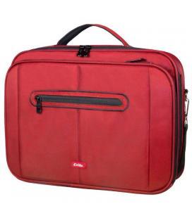 Maletín e-vitta clamshell rojo - para portátiles 15.4'-16'/39.1-40.6cm - interior acolchado - amplio compartimento frontal -