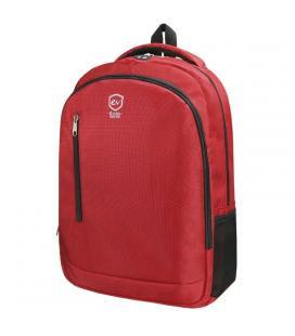 Mochila e-vitta discovery roja - para portátiles 15.4'-16'/39.1-40.6cm - interior acolchado - dos bolsillos de malla - salida