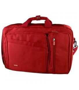 Maletín e-vitta versatile rojo - para portátiles 15.4'-16'/39.1-40.6cm - interior acolchado - convertible mochila - correa de