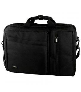 Maletín e-vitta versatile negro - para portátiles 15.4'-16'/39.1-40.6cm - interior acolchado - convertible mochila - correa de