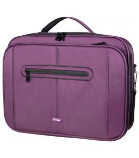 Maletín e-vitta clamshell púrpura - para portátiles 15.4'-16'/39.1-40.6cm - interior acolchado - amplio compartimento frontal -