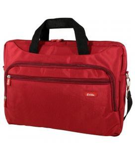 Maletín e-vitta xtreme compact rojo - para portátiles 15.4'-16'/39.1-40.6cm - interior acolchado - amplio bolsillo exterior -