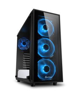 CAJA ATX SHARKOON TG4 BLUE 2XUSB3.0 SIN FUENTE