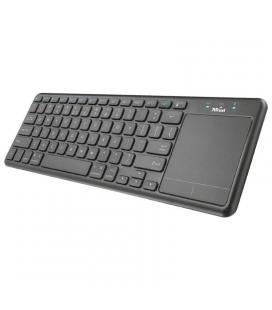 Teclado inalámbrico multimedia trust mida - bt alcance 10m - touchpad tamaño xl - para portátil / pc / smart tv / videoconsola