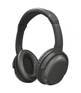 Auriculares bluetooth trust urban paxo con cancelación activa de ruido - puede usarse con cable jack 3.5mm - func. manos libres