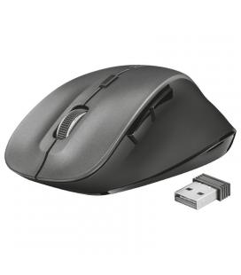 Ratón inalámbrico trust ravan - descanso ergonómico para pulgar - 800-1600dpi - 2 botones para pulgar - receptor microusb -