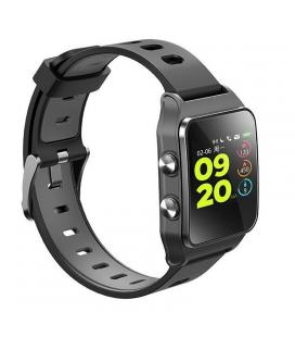 Reloj inteligente leotec training gps swim swolf negro - pantalla táctil oled - bt 4.2 - pulsometro dinámico - hvr - sumergible