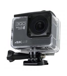 Cámara deportiva 3go wildcam4 - pantalla 2'/5.08cm - ángulo visión 160º - 12 mpx - vídeo 4k @25fps -micro usb - wifi -