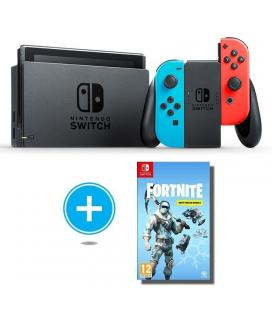 Consola nintendo switch red blue + juego fortnite lote de criogenizacion
