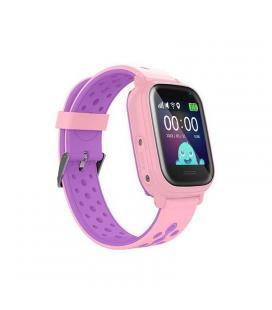 Reloj inteligente con localizador para niños leotec kids allo rosa - pantalla táctil - gps - cámara fotos - nanosim - botón - Im