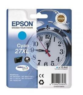Cartucho cian epson 27xl durabrite - 10.4ml - despertador - para wf-3620dwf / wf-3640dtwf / wf-7110dtw / wf-7610dwf / - Imagen 1