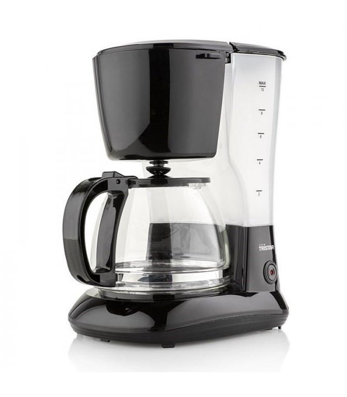 Cafetera de goteo tristar cm 1245 800w capacidad 1.25l jarra cristal filtro permanente
