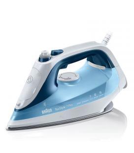 Plancha de vapor braun texstyle 7 pro si 7062 azul - 2600w - deposito 300ml - sistema antical - cable 2.5m